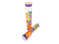 Tube bonbon plastique transparent candy HLP