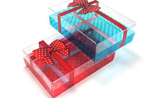 emballage plastique transparent noel HLP klearfold